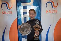 Hilversum, Netherlands, December 4, 2016, Winter Youth Circuit Masters,  winner girls 12 years,  Isis van den Broek <br /> Photo: Tennisimages/Henk Koster