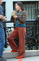 September 24, 2021.Constance Wu, filming on location for  Sony pictures Lyle Lyle Crocodile<br />   in New York September 24, 2021 Credit:RW/MediaPunch