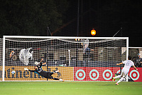 LAKE BUENA VISTA, FL - JULY 31: Francisco Ginella #8 of LAFC takes a penalty against Pedro Gallese #1 of Orlando City SC during a game between Orlando City SC and Los Angeles FC at ESPN Wide World of Sports on July 31, 2020 in Lake Buena Vista, Florida.