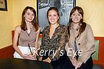 Enjoying the evening in Sean Ogs on Friday, l to r: Harrina Timmins, Giorgia Doddo (Killarney) and Karolina Timmins.