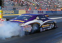 Mar 28, 2014; Las Vegas, NV, USA; NHRA pro stock driver Vincent Nobile during qualifying for the Summitracing.com Nationals at The Strip at Las Vegas Motor Speedway. Mandatory Credit: Mark J. Rebilas-