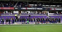 ORLANDO CITY, FL - JANUARY 31: USMNT bench during a game between Trinidad and Tobago and USMNT at Exploria stadium on January 31, 2021 in Orlando City, Florida.