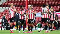 Brentford players celebrate their victory at the final whistle during Brentford vs Preston North End, Sky Bet EFL Championship Football at Griffin Park on 15th July 2020