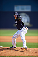 New York Yankees pitcher Taylor Widener (23) delivers a pitch during a minor league Spring Training game against the Detroit Tigers on March 22, 2017 at the Yankees Complex in Tampa, Florida.  (Mike Janes/Four Seam Images)