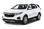 2022 Chevrolet Equinox LT 5 Door SUV Angular Front automotive stock photos of front three quarter view