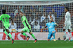 Sporting Clube de Portugal's Bruno Cesar and Real Madrid's Kiko Casilla during the match of Champions League group 6 round 1, between Real Madrid an Sporting Clube de Portugal at Santiago Bernabeu Stadium in Madrid September 14, 2016. (ALTERPHOTOS/Rodrigo Jimenez)