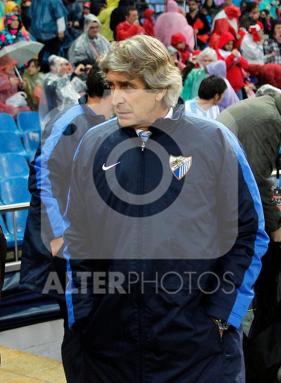 Madrid (05/05/2012).- Estadio Vicente Calderon..Liga BBVA.Atletico de madrid - Malaga Club de Futbol..Manuel Pellegrini...Photo: Alex Cid-Fuentes / ALFAQUI..