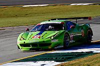 #57 Ferrari, Nic Jonsson, Tracy Krohn, Andrea Bertolini, Petit Le Mans , Road Atlanta, Braselton, GA, October 2014.   (Photo by Brian Cleary/www.bcpix.com)