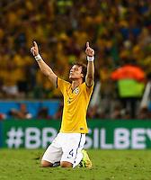 David Luiz of Brazil celebrates on the final whistle