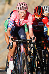 Hugh John Carthy (GBR) EF Pro Cycling attacks from the GC group on the slopes of the Alto de la Covatilla during Stage 17 of the Vuelta Espana 2020, running 178.2km from Sequeros to Alto de la Covatilla, Spain. 7th November 2020. <br /> Picture: Luis Angel Gomez/PhotoSportGomez | Cyclefile<br /> <br /> All photos usage must carry mandatory copyright credit (© Cyclefile | Luis Angel Gomez/PhotoSportGomez)