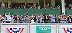 June 6, 2015: The crowd reacts as American Pharoah, Victor Espinoza up, wins the 147th running of the Grade I  Belmont Stakes and with it the Triple Crown at Belmont Park, Elmont, NY.  Joan Fairman Kanes/ESW/CSM