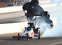 Nov 2, 2019; Las Vegas, NV, USA; NHRA top fuel driver Steve Torrence during qualifying for the Dodge Nationals at The Strip at Las Vegas Motor Speedway. Mandatory Credit: Mark J. Rebilas-USA TODAY Sports