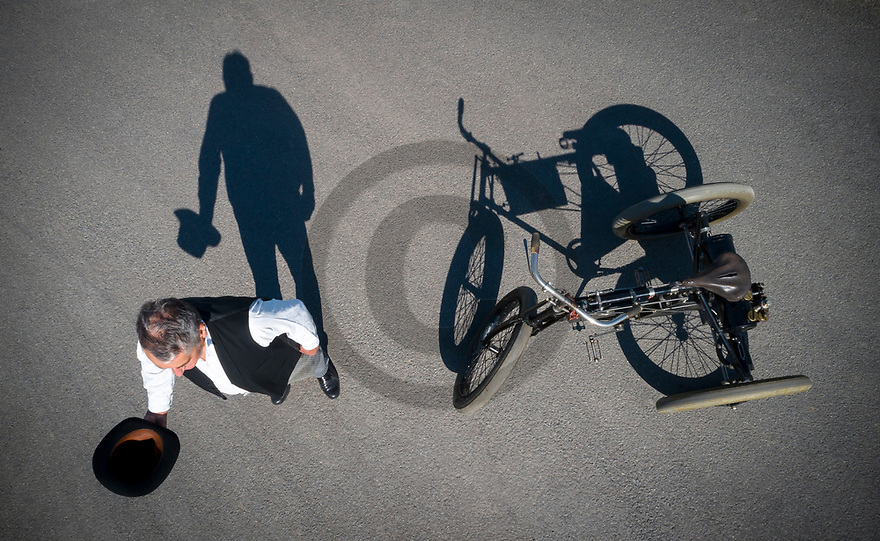 2/09/19 - CHAPPES - PUY DE DOME - FRANCE - Essais Tricycle De Dion Bouton de 1898, propriete Michelin - Photo Jerome CHABANNE