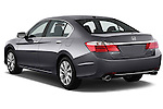 Angular Rear three quarter view of a 2013 Honda Accord EX-L V6 Sedan