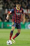 FC Barcelona's Neymar Santos Jr during Champions League 2013/2014 match.April 1,2014. (ALTERPHOTOS/Acero)