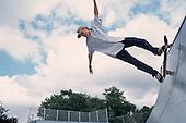 Skateboarder in a Camden Council park.