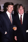 Nigel Havers and Director Alan Parker attends 60th Annual National Board of Review of Motion Pictures Awards at Lincoln Center on February 27, 1989 in New York City.