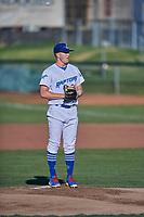 Ogden Raptors starting pitcher Kevin Malisheski (28) delivers a pitch to the plate against the Missoula Osprey at Lindquist Field on July 12, 2018 in Ogden, Utah. Missoula defeated Ogden 11-4. (Stephen Smith/Four Seam Images)