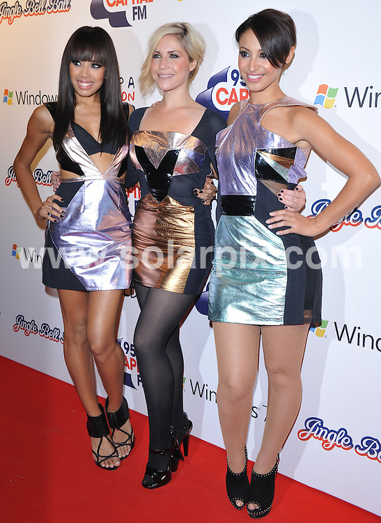 **ALL ROUND PICTURES FROM SOLARPIX.COM**.**WORLDWIDE SYNDICATION RIGHTS**.Press room at the Jinglebell Ball 2009.  Held at the O2 Arena, Greenwich Peninsula.This pic:   The Sugababes.JOB REF:   10346   SSD     DATE:  05.12.09.**MUST CREDIT SOLARPIX.COM OR DOUBLE FEE WILL BE CHARGED**.**MUST NOTIFY SOLARPIX OF ONLINE USAGE**.**CALL US ON: +34 952 811 768 or LOW RATE FROM UK 0844 617 7637**