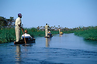 MOKOROS (Boats made of hollowed out logs) are a wonderful way to explore the OKAVANGO DELTA - BOTSWANA
