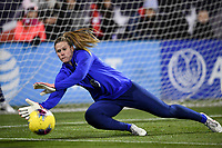 COLUMBUS, OH - NOVEMBER 07: Alyssa Naeher #1 of the United States warming up during a game between Sweden and USWNT at MAPFRE Stadium on November 07, 2019 in Columbus, Ohio.