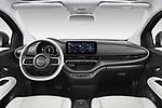 Straight dashboard view of a 2021 Fiat 500C La Prima 2 Door Convertible