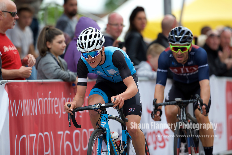 Pix: Shaun Flannery/shaunflanneryphotography.com<br /> <br /> COPYRIGHT PICTURE>>SHAUN FLANNERY>01302-570814>>07778315553>><br /> <br /> 11th June 2017<br /> Doncaster Cycle Festival 2017<br /> Whinfrey Briggs Elite Men's Race<br /> Tom Pidcock (PH-MAS/Paul Milnes/Oldfield ERT Graham Briggs (JLT Condor)
