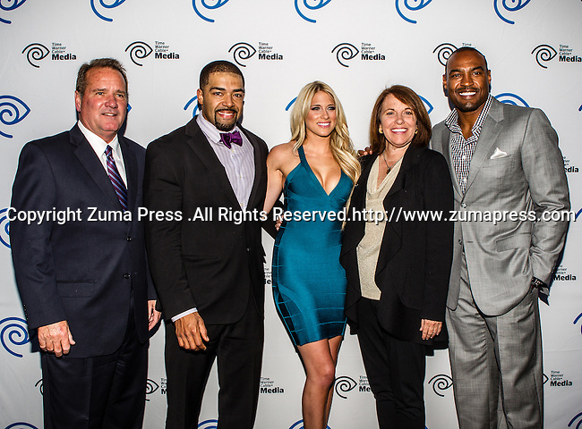 John McKay, David Otunga, Kelly Kelly, Carole Hart, and Darren Woodson at the Time Warner Media Cabletime Upfront media event held at the Private Social Restaurant  in Dallas, Texas.