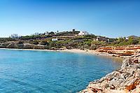 Apantima beach of Antiparos island in Cyclades, Greece