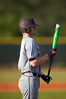 Central Michigan Chippewas pinch hitter Colton Bradley (7) at bat during a game against the Boston College Eagles on March 8, 2016 at North Charlotte Regional Park in Port Charlotte, Florida.  Boston College defeated Central Michigan 9-3.  (Mike Janes/Four Seam Images)