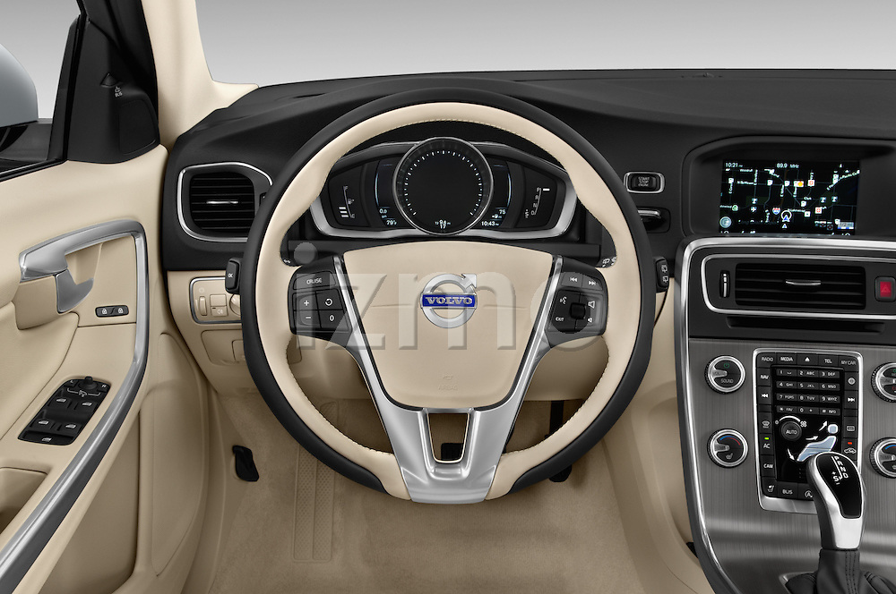 Car pictures of steering wheel view of a 2015 Volvo V60 Xenium T5 Drive-E FWD 5 Door Wagon Steering Wheel