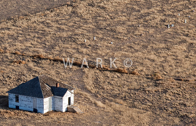 Old abandoned schoolhouse, eastern/central Colorado. Feb 2014