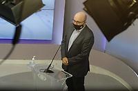 Campinas (SP), 01/10/2020 - Eleições/Debate - Nove candidatos a prefeito de Campinas (SP) se enfrentam nesta quinta-feira (01) no primeiro debate promovido pela Band. Alessandra Ribeiro (PCdoB), André Von Zuben (Cidadania), Artur Orsi (PSD), Dário Saadi (Republicanos), Delegada Teresinha (PTB), Dr. Hélio (PDT), Rafa Zimbaldi (PL), Pedro Tourinho (PT) e Wilson Matos (Patriota) irão apresentar suas propostas e serão confrontados pelos seus adversários. Esse grupo integra os partidos que têm cinco representantes no Congresso Nacional.<br /> Na foto: Dário Saadi - Republicanos