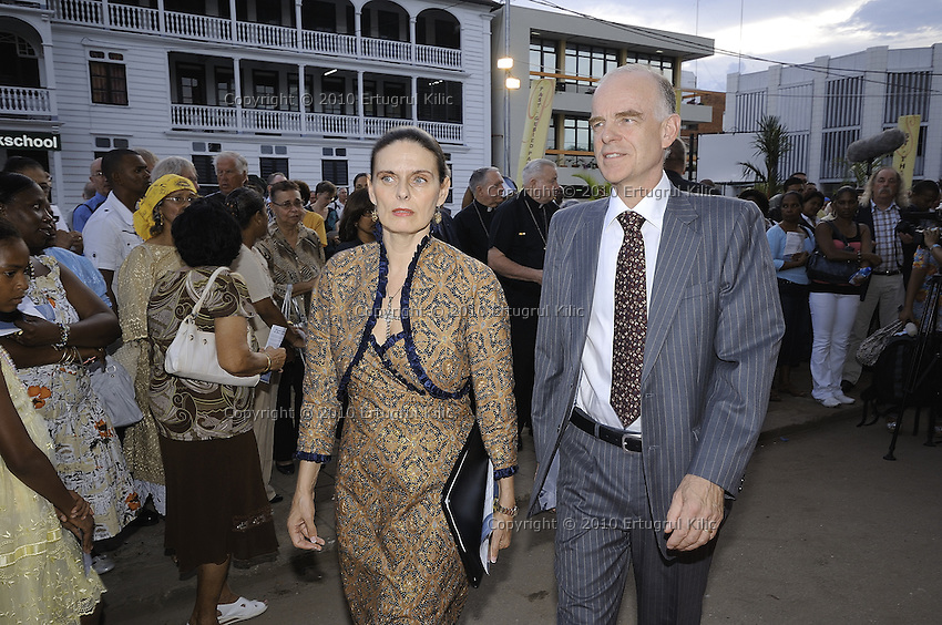 Ms. Esmeralda Hernandez Aragones, Chief of Delegation of the European Commission - Aart Jacobi The Netherlands Ambassador to the Republic of Suriname ....Official Opening Ceremony of ST. Petrus and Paulus Cathedral (AKA World's largest wooden cathedral)