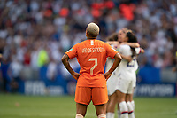 LYON, FRANCE - JULY 07: Victoria Pelova during a game between Netherlands and USWNT at Stade de Lyon on July 07, 2019 in Lyon, France.