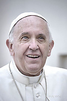 Pope Francis during of a weekly general audience at St Peter's square in Vatican. on October 19, 2016