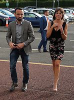 Pictured L-R: Leon Britton and Adele Callaghan Wednesday 18 May 2017<br /> Re: Swansea City FC, Player of the Year Awards at the Liberty Stadium, Wales, UK.
