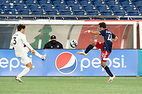 FOXBOROUGH, MA - OCTOBER 09: Colby Quinones #41 of New England Revolution II during a game between Fort Lauderdale CF and New England Revolution II at Gillette Stadium on October 09, 2020 in Foxborough, Massachusetts.