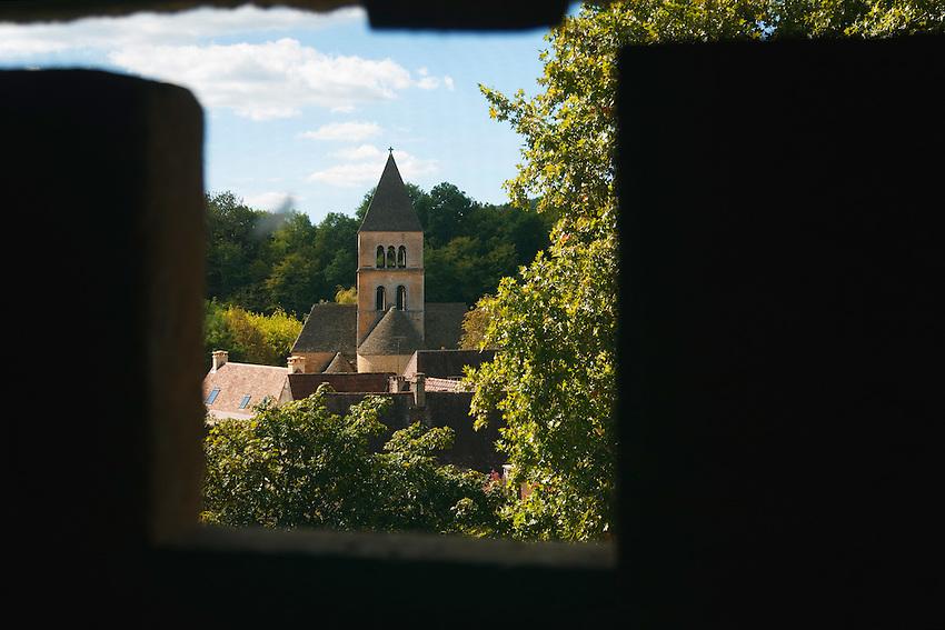 Église de Saint-Léon vue du haut de la tour du chateau