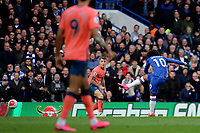 Willian scores Chelsea's third goal during Chelsea vs Everton, Premier League Football at Stamford Bridge on 8th March 2020