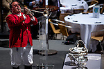 JUNE 3, 2015: Sam the bugler during the Belmont Stakes Post Position Draw at Rockefeller Center in New York, NY. Scott Serio/ESW/CSM