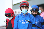 March 27 2021: Kockeys entering the paddock for the Al Quoz Sprint at Meydan Racecourse, Dubai, UAE. Shamela Hanley/Eclipse Sportswire/CSM