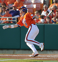 First baseman Richie Shaffer (8) of the Clemson Tigers in a game against the Eastern Michigan Eagles on Friday, Feb. 18, 2011, at Doug Kingsmore Stadium in Clemson, S.C. Photo by Tom Priddy / Four Seam Images