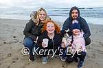 Elaine, Ava and Emily Wren and Kevin Orpen from Ardfert enjoying a stroll in Banna beach on Sunday.