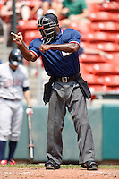 May 28, 2009:  Home Plate Umpire Al Porter during a game at Coca-Cola Field in Buffalo, NY.  Photo by:  Mike Janes/Four Seam Images