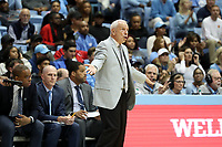 CHAPEL HILL, NC - NOVEMBER 01: Head Coach Roy Williams of the University of North Carolina during a game between Winston-Salem State University and University of North Carolina at Dean E. Smith Center on November 01, 2019 in Chapel Hill, North Carolina.