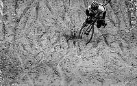 """crashing in the infamous """"Pit""""<br /> <br /> Junior Men's Race<br /> Superprestige Zonhoven (BEL) 2018"""