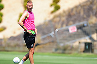 Mike van der Hoorn of Swansea City in action during the Swansea City Training at The Fairwood Training Ground in Swansea, Wales, UK. Thursday 25th Junes 2020