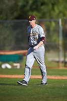 Central Michigan Chippewas pitching coach Jeff Opalewski (26) walks to the mound during a game against the Boston College Eagles on March 3, 2017 at North Charlotte Regional Park in Port Charlotte, Florida.  Boston College defeated Central Michigan 5-4.  (Mike Janes/Four Seam Images)