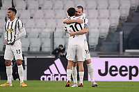 Paulo Dybala and Leonardo Bonucci of Juventus FC embrace each other during the Serie A football match between Juventus FC and Udinese Calcio at Juventus stadium in Torino  (Italy), January, 3rd 2021.  Photo Federico Tardito / Insidefoto